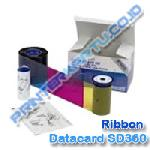 Robbon Color YMCKT-KT Datacard SD360