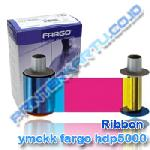 Ribbon Color YMCKK Fargo HDP5000